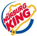NURBURG KING Ratlook JDM Style vinyl car sticker Bombing Decal 100x90mm